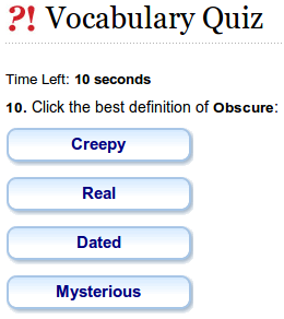 The Vocabulary Quiz